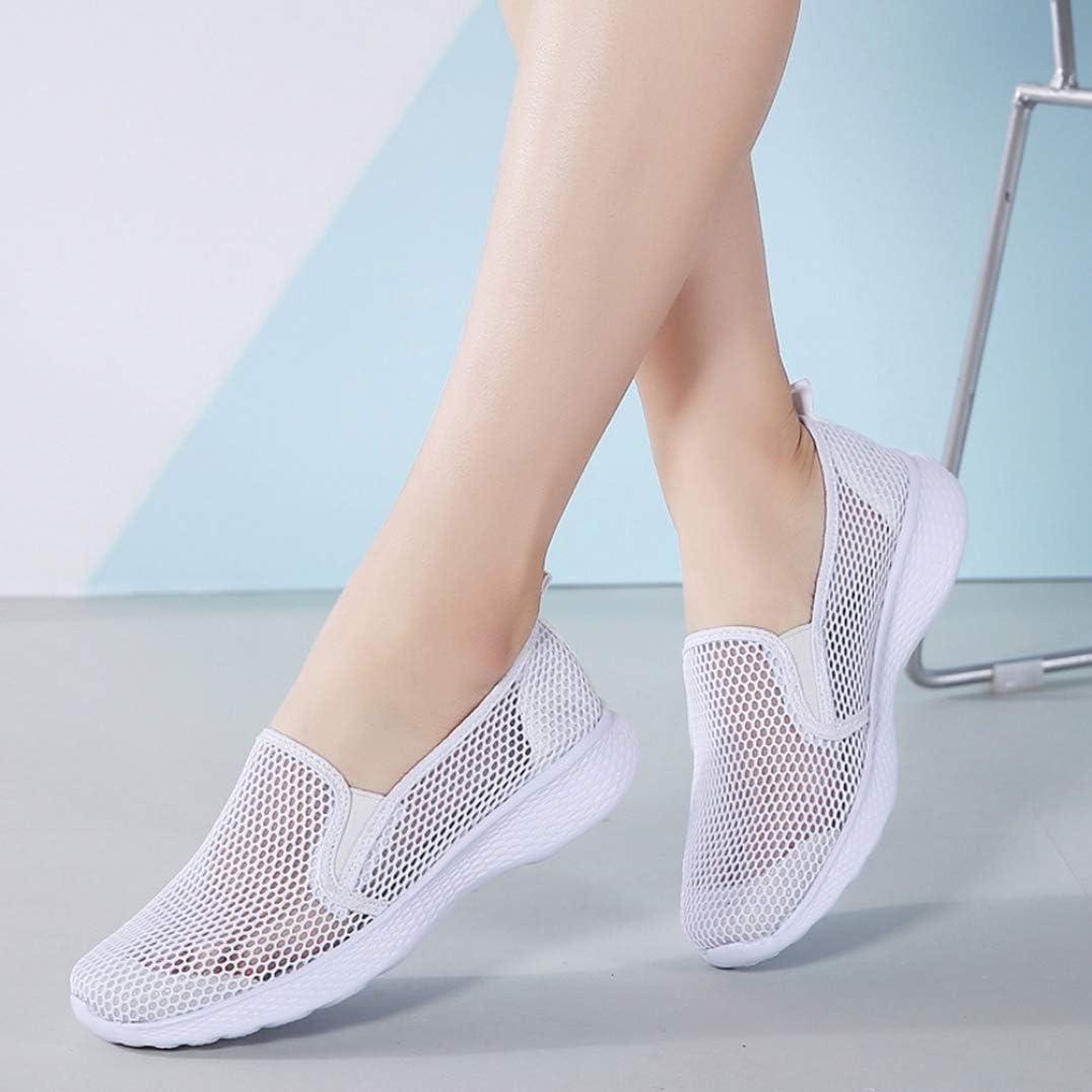 Zapatillas De Deporte De Malla De Verano para Mujeres Zapatillas De Gimnasia para Correr Ligeras Y Transpirables Zapatillas De Gimnasia Casuales Zapatillas Sin Cordones con Plataforma De Fondo Suave