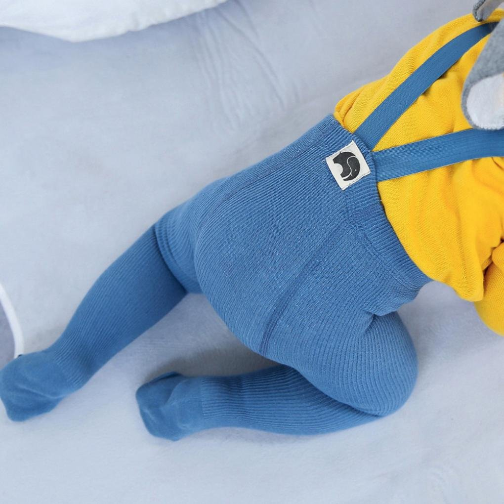 Sunbona Toddler Baby Stretchy Belt Bottoms Pants Protect Navel Overalls Warm Leggings Tights