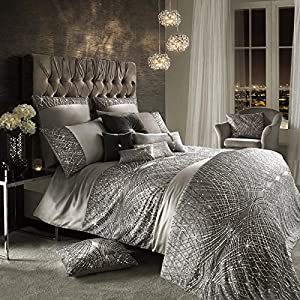 Kylie Minogue Esta Silver Luxury Bedding And Accessories