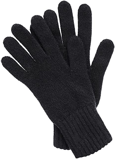 "Blk 11/""L Scotland Thick Plush Fitted 3Ply Soft Size//S-L Mens Cashmere Gloves"