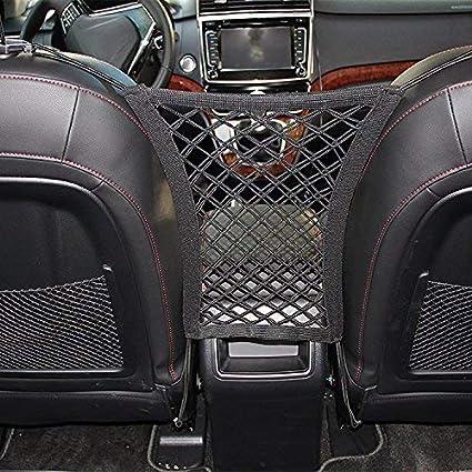 Amazon Com Car Seat Net Organizer Universal Stretchy Car Backseat