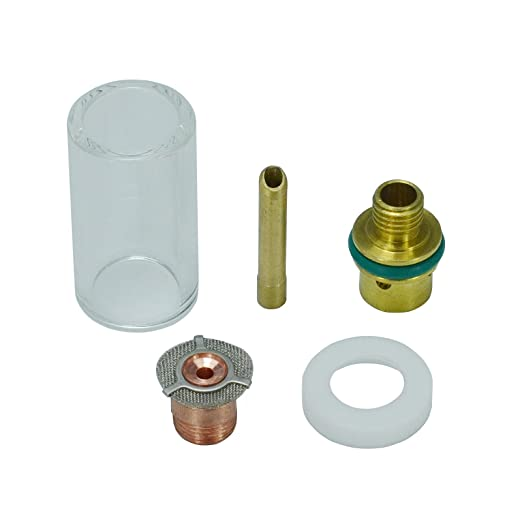 """5PCS Welding Pyrex TIG Torch Lens Cup Gas 2.4mm 3//32/"""" Collet Kit  For WP17 18"""
