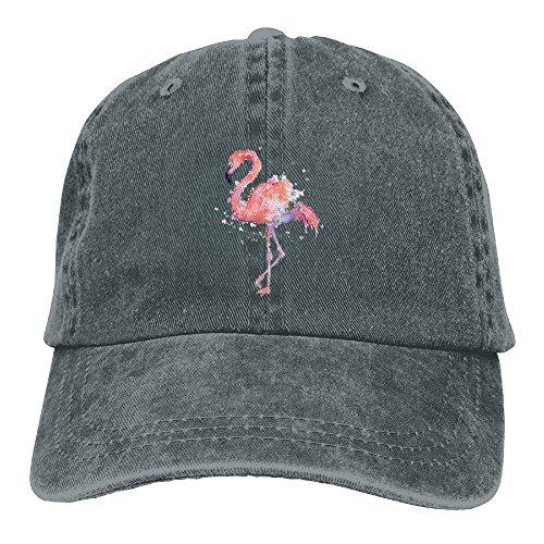 Drawing Flamingos Custom Newest Adjustable Denim Hats Baseball Caps Trucker Hat For Men And Women (Architect Denim)