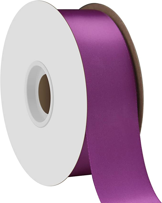 1m//5m//10m//20m//100m Berisfords Liberty Purple 35mm Double Sided Satin Ribbon