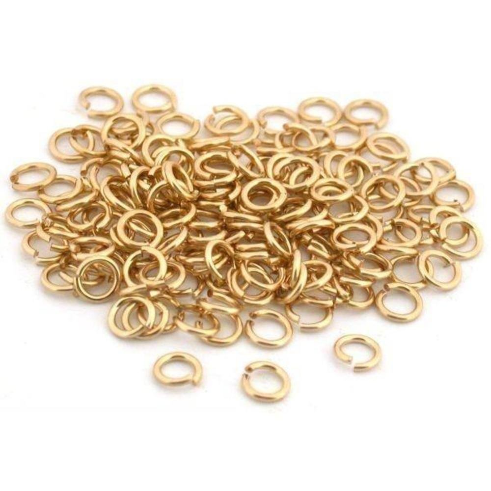 100 Jump Rings 14K Gold Filled Open Jewelry Clasp 4mm by Generic (Image #1)