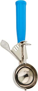 Winco ICD-16 No.16 Ice Cream Disher with Plastic Handle, Blue