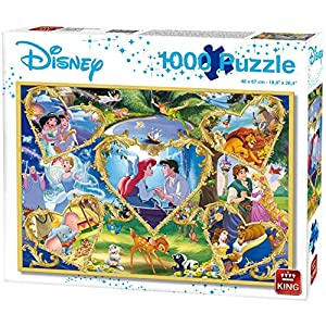 King 55829 Disney Movie Magic Puzzle 1000 Pezzi Cartone Blu