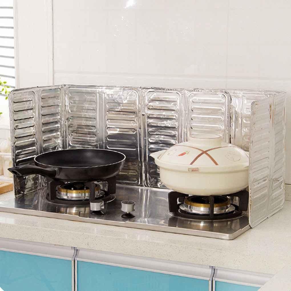 Bomcomi Pr/ácticos para la cocci/ón Aceite de fre/ír el Protector de Salpicaduras Cocina de Gas eliminaci/ón de Aceite de Cocina escaldaduras Prueba Junta