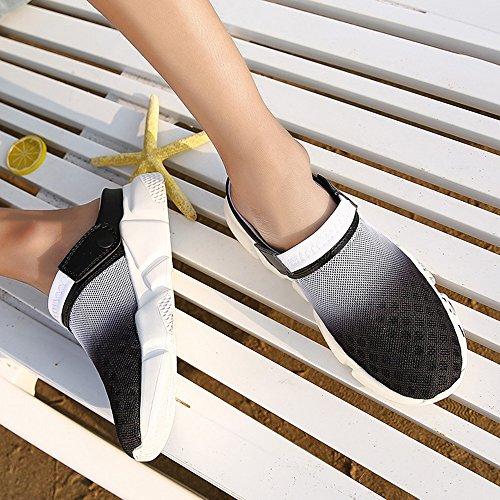 per Casual Respiranti Pantofola Scarpe white Black Zoccoli da Sport Antiscivolo Sandali Uomo Spiaggia DADAZE x0w8nz4vFF
