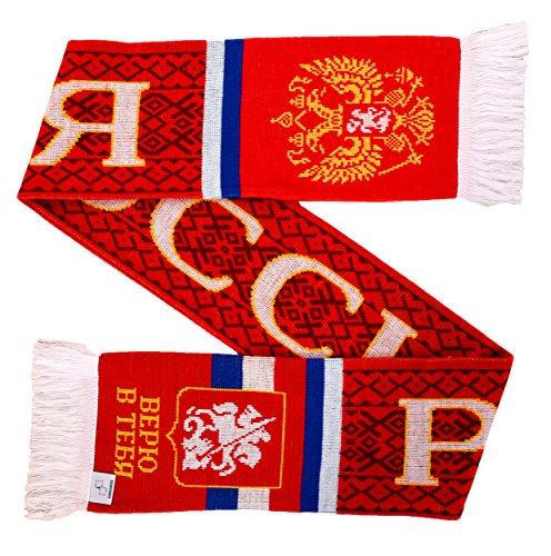 Russia Rossiya Soccer Knit Scarf (Best Russian Soccer Team)