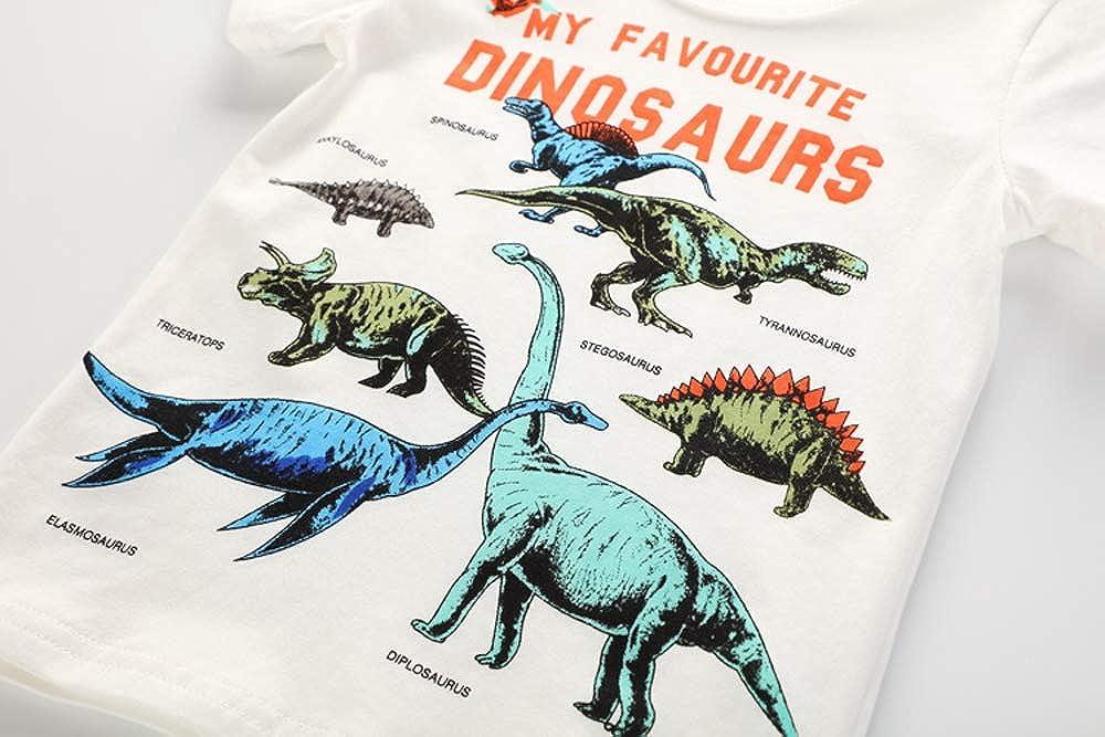 Toddler Kids Little Boys Girls Dinosaur Shirt Short Sleeve T-Shirt Tops Summer Clothes