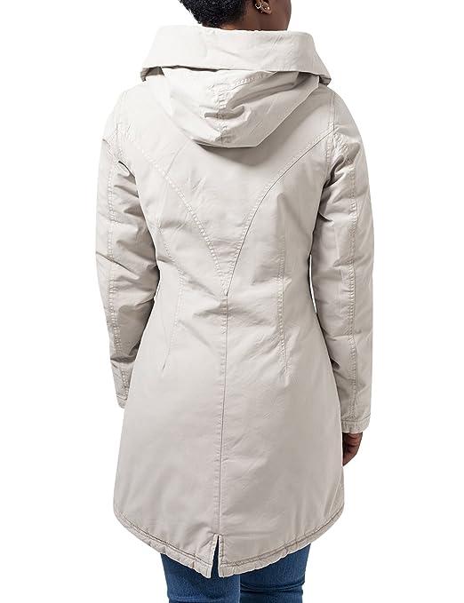 Washed Urban in Garment Mantel Long Classics Damen beige XZiPkuTO