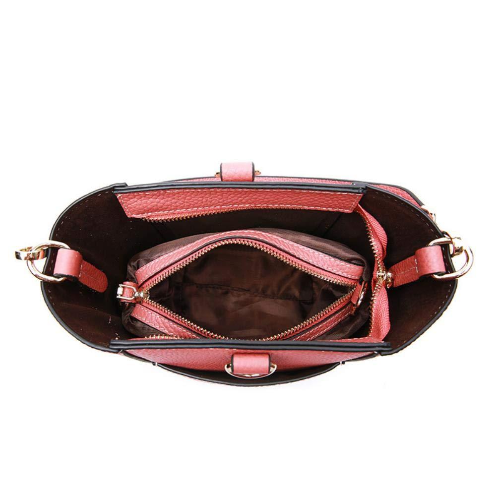 LINQIAN Weibliche Handtaschenschulter-Diagonaldame Brick Red