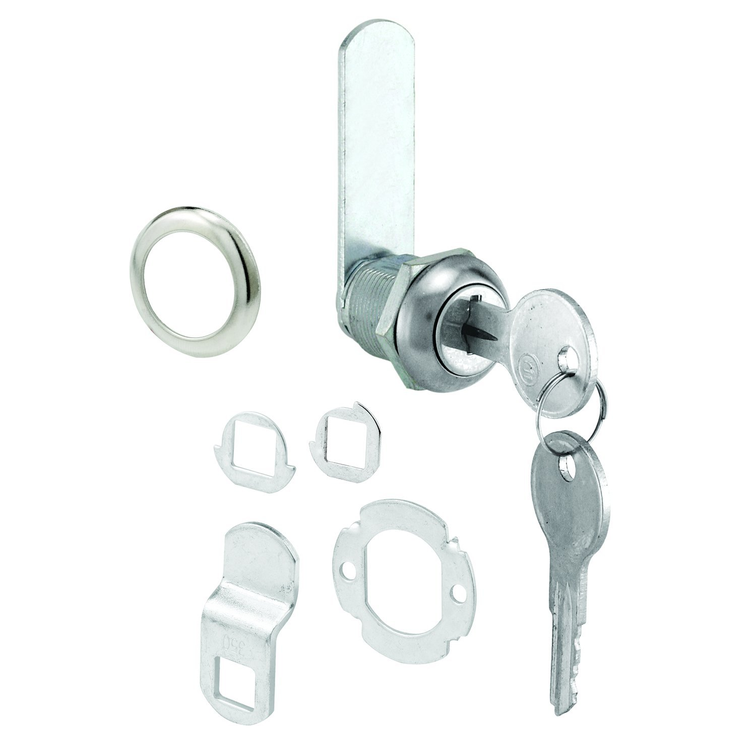 Slide-Co 223271 RV and Mobile Home Cylinder Lock, Keyed, Zinc Plated Steel/Diecast