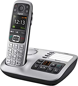 Gigaset E560A – Cordless Phone for Seniors with Answering Machine and Emergency Call Key, Big Button Phone, Brilliant Sound Quality and Loud Volume (Platinum, Pack of 1)