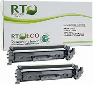 Renewable Toner Compatible Toner Cartridge Replacement for HP 17A CF217A Laserjet Pro M102 M130 Printer (Black, 2-Pack)