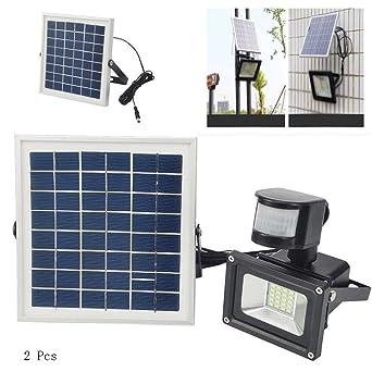 10W LED Solar Fluter Solarlampe Strahler Wandleuchte mit Bewegungsmelder Leuchte