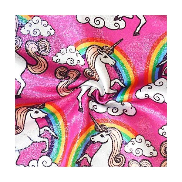 Gymnastics Leotards for Girls Sparkly Unicorn Biketard Outfits Activewear Quick Dry 5