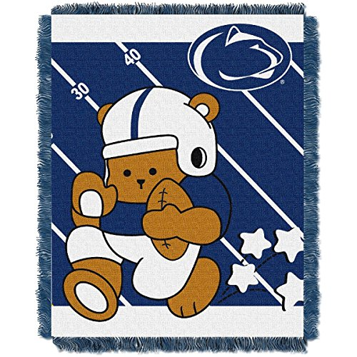Nittany Lions Woven Jacquard - The Northwest Company Penn State Nittany Lions Fullback Baby Triple Woven Jacquard Throw