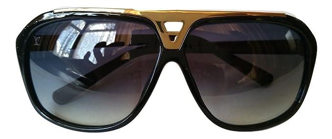 große sorten schnelle Farbe zarte Farben Louis Vuitton Herren Sonnenbrille Schwarz Gold: Amazon.de ...