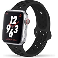 YC YANCH Compatible for Apple Watch Band 38mm 40mm 42mm 44mm,Soft Silicone Sport Band Replacement Wrist Strap Compatible for iWatch Apple Watch Series 4/3/2/1,Nike+,Sport,Edition