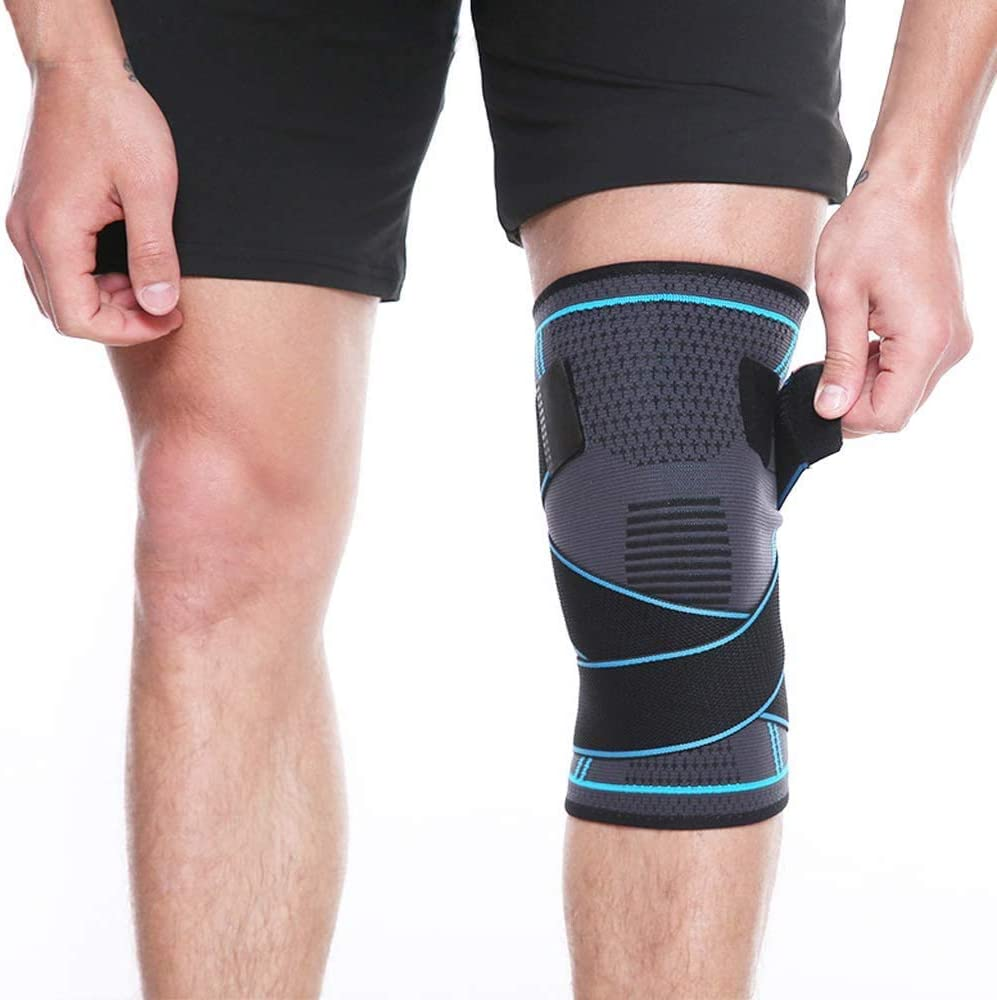 MEIYIN 1pcs Outdoor Sports Men and Women Pressure Protection Knee for Running Basketball Mountaineering Non-Slip Knitting Compression Knee Support Sleeve Brace