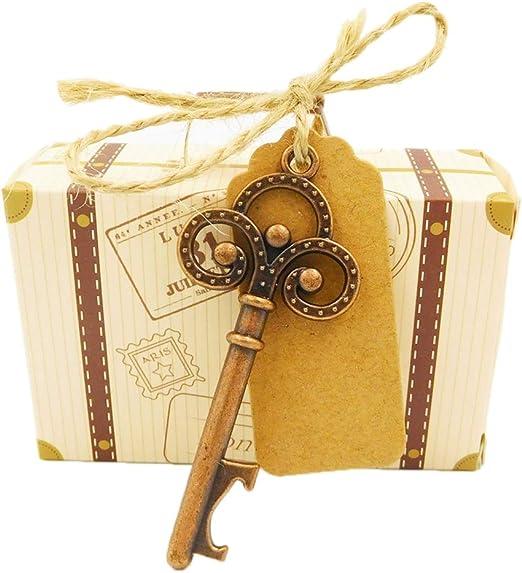 ReFaXi Caja del Caramelo De Boda Aniversario con Brújula Viajes Tema Fiesta Regalo Favores (Caja + Botella abrelatas): Amazon.es: Hogar