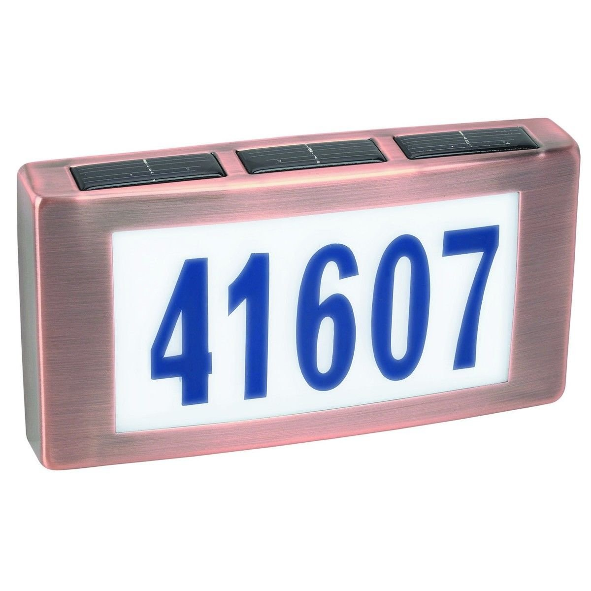Solar LED Light House Street Address Driveway Numbers Plaque Sign Illuminated .#GG4346 43ETR98-Y222089