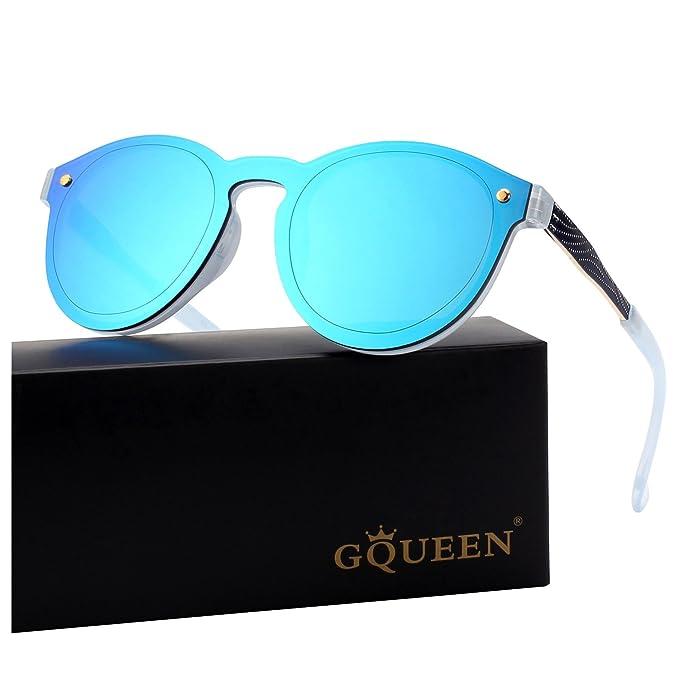668c0db7d6 GQUEEN Futurista Sin Marco Redondas Gafas de Sol Protector Reflexivo Espejo  Anteojos para Hombre Mujer MEO5: Amazon.es: Ropa y accesorios
