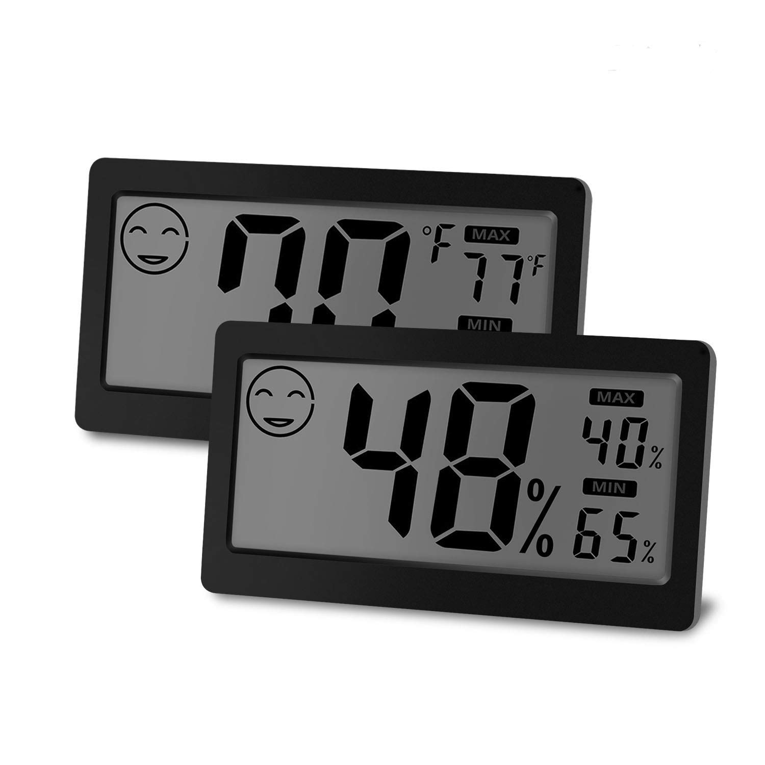 JLENOVEG Digital Indoor Thermometer Hygrometer Temperature and Humidity Display with 3.3 inch LCD Table Standing Magnet Attaching for Household Office Gym Kitchen (2)