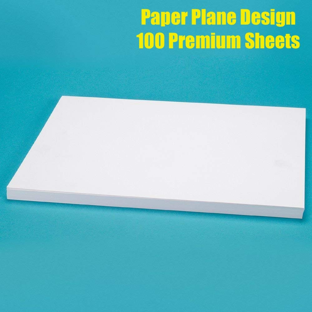Paper Plane Design Set of 100 Sheet A4 size for Letter Head Printing 100 GSM Pure White product image