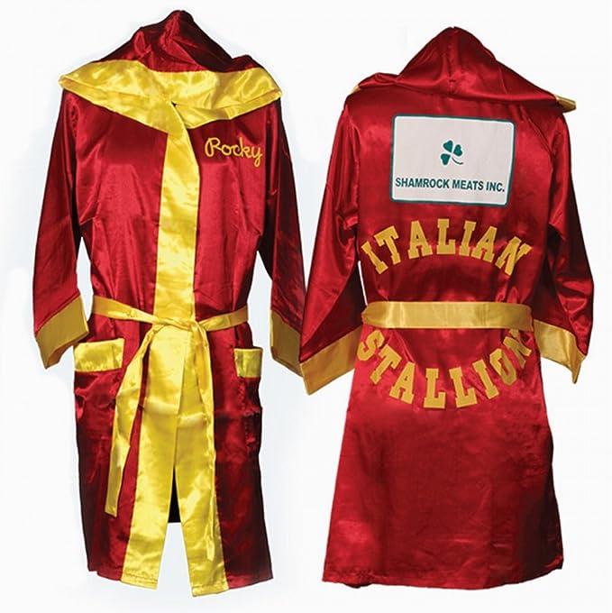 Rocky Balbo Rojo película Italian Stallion Boxeo Robe: Amazon.es: Ropa y accesorios