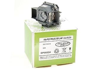 Alda PQ-Premium, Lámpara de proyector para EPSON EMP-X3, EMP-62, EMP-63, EMP-82, POWERLIGHT 76C, POWERLIGHT 62C Proyectores, lámpara con carcasa