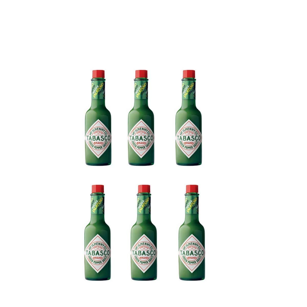 Tabasco Green Pepper Sauce, 5-ounce Bottle (Pack of 6)