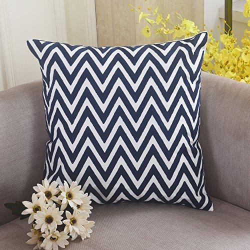 Brilliant Chevron Patterned Embroidery Pillowcase