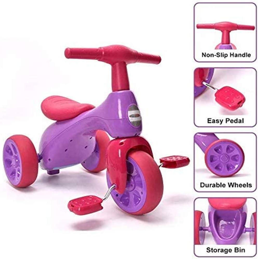 AJH Bicicletas de Balance de 3 años de Edad, de Peso Ligero Pedales niño del Triciclo Walker para Niños Niños Infantil del bebé Edad 18 a 36 Meses de Interior al Aire Libre Mejor Regalo de cumpleaños