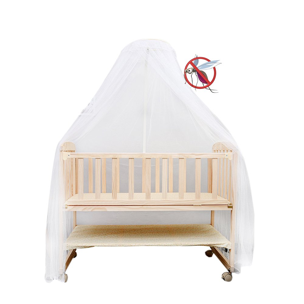 Sealive Baby Nursery Mosquito Net Baby Toddler Bed Crib Canopy Netting Dome Hanging Mosquito Soft & Breathable Kids Bed Crib Netting sealiveB040030