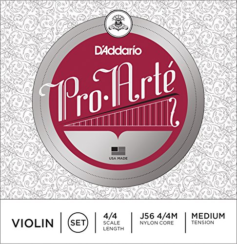D'Addario J56 4/4M Pro-Arte Nylon violin Strings, Medium