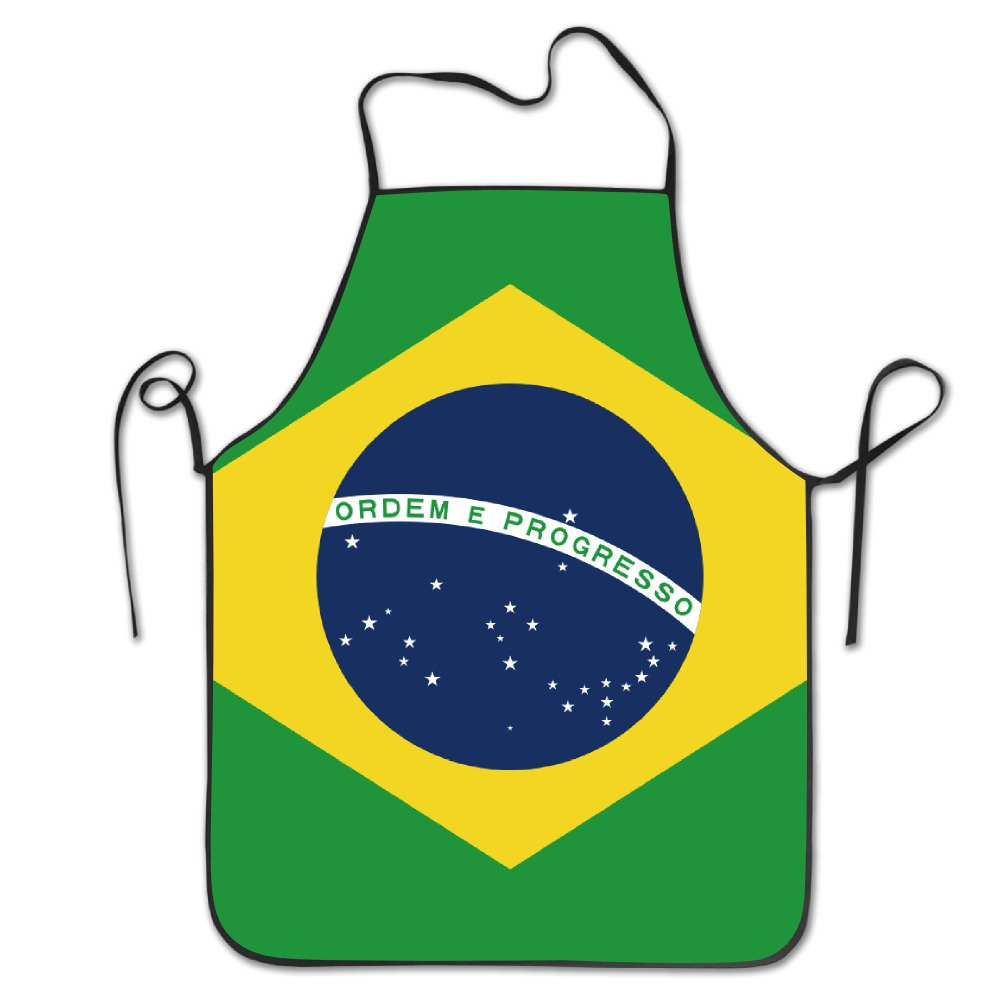 Flag Of Brazil Kitchen Apron Waterproof Adult