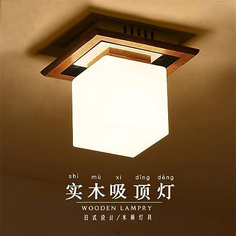 Modern LED Pendant Flush Mount Ceiling Fixtures Light Creative wood ...