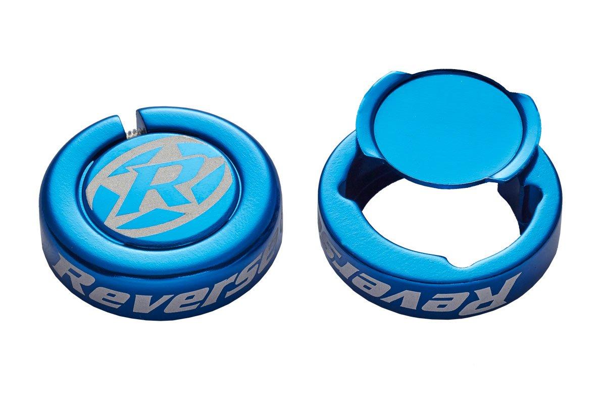 Reverse Barends-Chip Lenker Endkappen 2 Stück dunkel blau