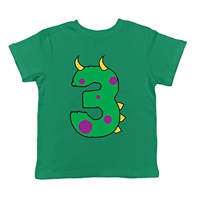 SpiritForged Apparel Birthday Dinosaur Number 3 Years Old Infant T Shirt
