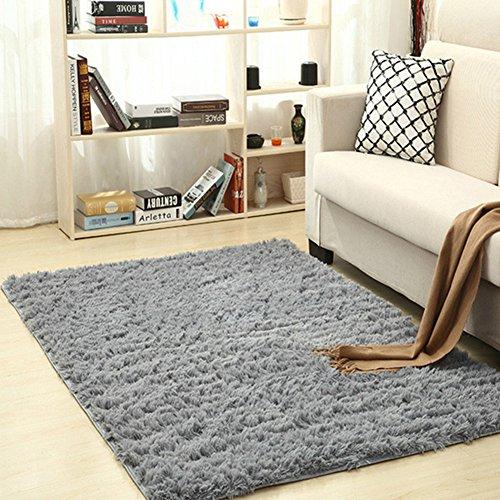 Alfombra rectangular para interior de la marca angju para salón, recámara, decoración del hogar, 120 x 80 cm, Gris, 80 *...