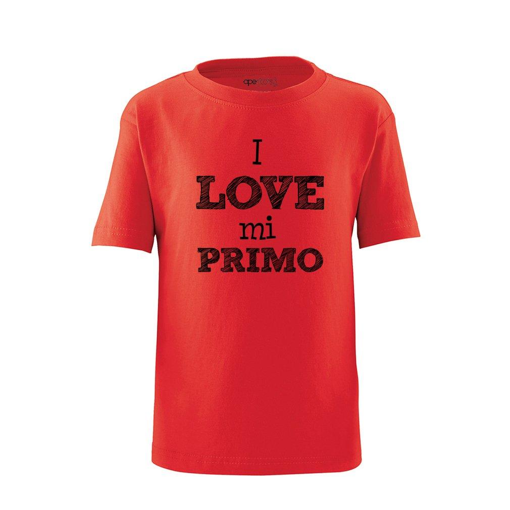 Apericots I Love Mi Primo Spanish My Cousin Cute Short Sleeve Toddler Tee Shirt