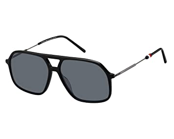 Tommy Hilfiger Gafas de Sol TH 1645/S Black/Grey Hombre ...