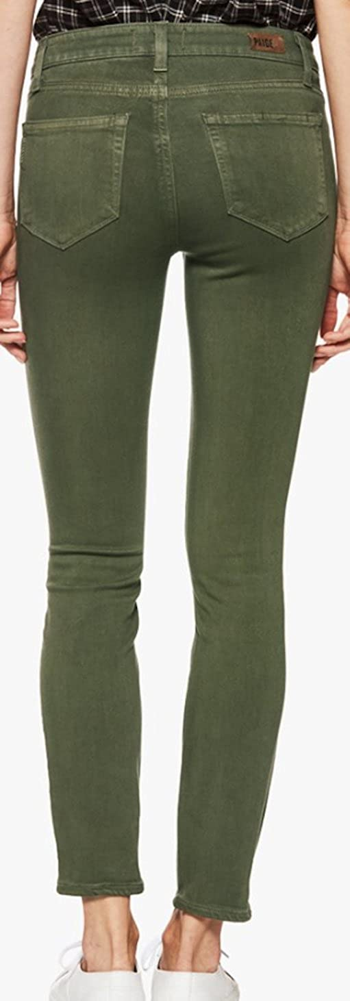 Paige Womens Jean Verdugo Ankle Vintage Forest Night Midrise Skinny Jeans 1764799 6035