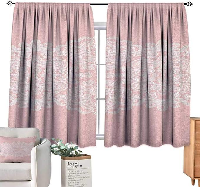 Cortinas Personalizadas de Color Rosa y Blanco, decoración en ...