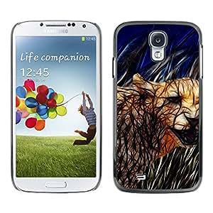 Paccase / SLIM PC / Aliminium Casa Carcasa Funda Case Cover - Cat Cougar Feline Nature Wild Animal - Samsung Galaxy S4 I9500