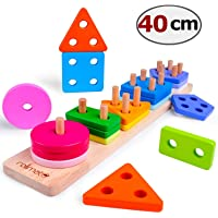 Wooden Educational Toys Best Birthday Gifts for 1 2 3+ Years Boy Girl Toddler Preschool...