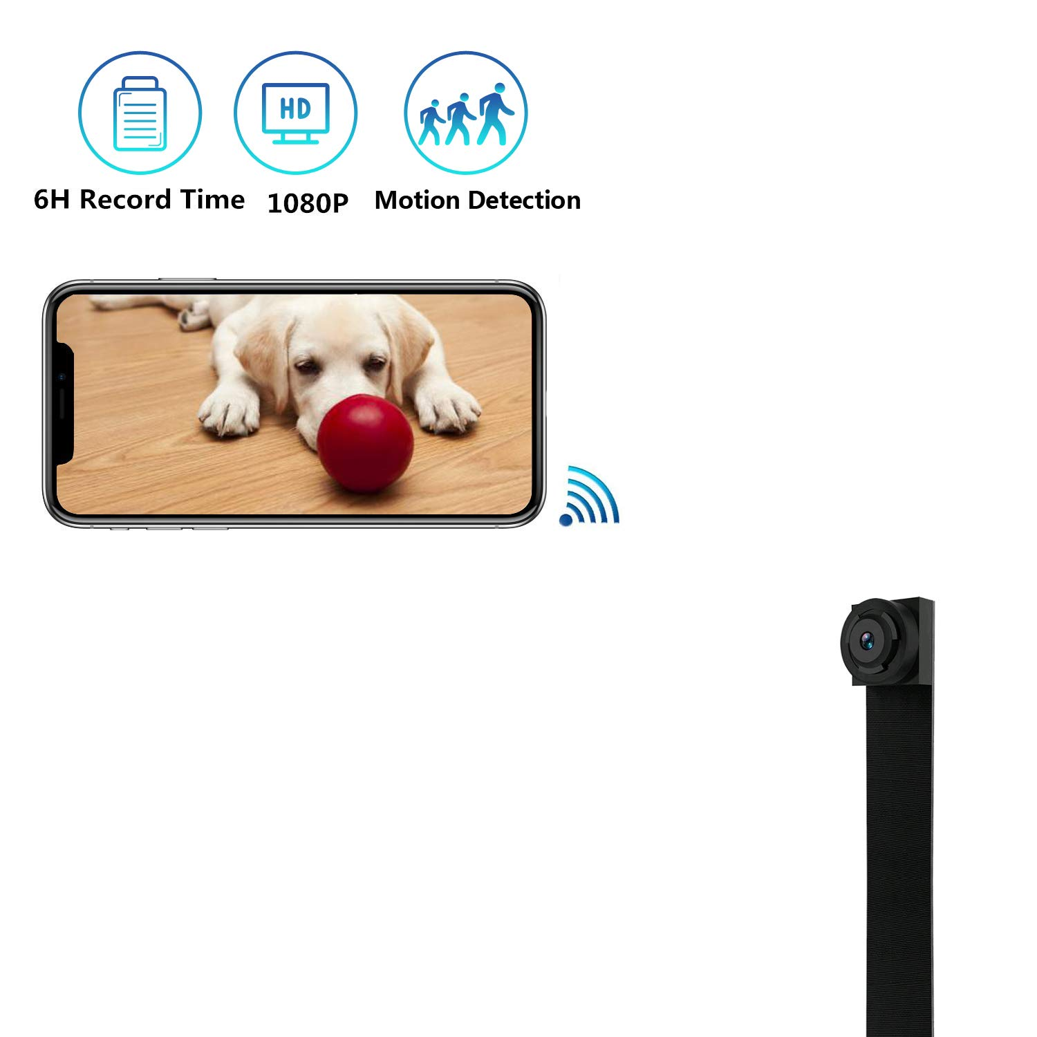 Mini Spy Camera WiFi Hidden Camera HD 1080P Small Nanny Cam Home Office Security Camera with Motion Detection, Portable IP Camera Recording Indoor and Outdoor by Aveskon